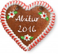 Abitur 2016 - Gingerbread Heart 12cm