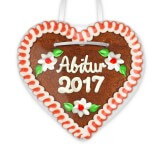 Graduation 2017 - Gingerbread Heart 12cm