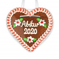 Graduation 2020 - Gingerbread Heart 12cm