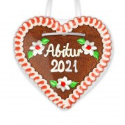 Graduation 2021 - Gingerbread Heart 12cm