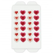 Candy decoration hearts, 24 pieces