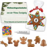 Gingerbread handicraft sets in individually printed cardboard