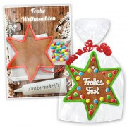 Crafting set gingerbread star with border - Christmas edition