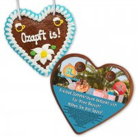 Printed back panel for your gingerbread heart 12-24cm