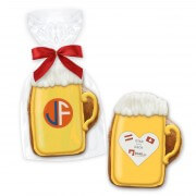 Mini gingerbread beer mug with logo - 7cm