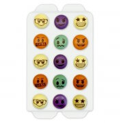 Candy decorations colorful smileys , 15 pieces