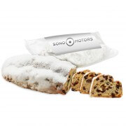 Butter and almond stollen with advertising label, 750g