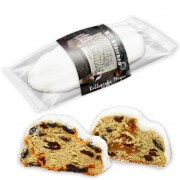 Christmas stollen with advertising print on banderole, 1000g