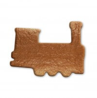 Gingerbread steam engine for decoration, 24 cm