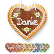 Danke - Gingerbread Heart 12cm
