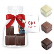 Chocolate Cake Dominoes four in the bag - 50g - with printable card card