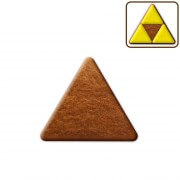 Gingerbread triangle blank, about 8cm