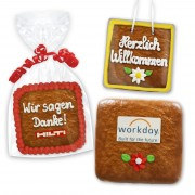 Gingerbread square 8cm - optional with logo
