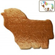 Gingerbread unicorn blank, 12 cm