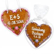 Gingerbread Heart Invitation Felizitas