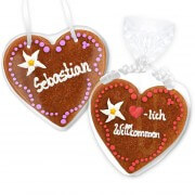 Gingerbread Heart Invitation Isabella