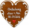 Gingerbread Heart Invitation Konstantin
