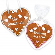 Gingerbread Heart Invitation Lucas