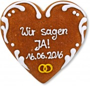 Gingerbread Heart Invitation Sophia