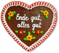 Ende gut, alles gut - Gingerbread Heart 23cm
