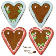 Color selection of gingerbread hearts