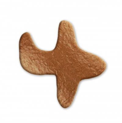Blank gingerbread airplane 18cm, for decoration