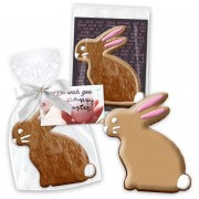 Easter cookie rabbit sitting about 12cm with advertising card