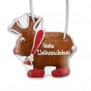 Frohe Weihnachten Gingerbread moose, 22cm