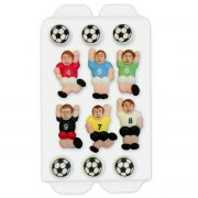 Sugar decorating football set, 12-parts
