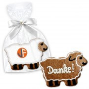 Easter lamb Easter cookie about 12cm opt. with text or logo