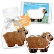 Easter greetings lamb about 12cm with greeting card