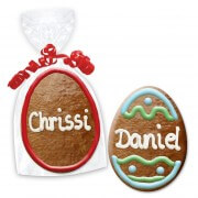 Easter cookie place cards, Easter egg 12cm