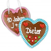 Individual Gingerbread Hearts, 14cm