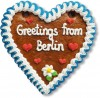 Greetings from Berlin - Gingerbread Heart 16cm