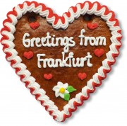 Greetings from Frankfurt - Lebkuchenherz 16cm