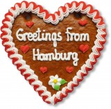 Greetings from Hamburg - Gingerbread Heart 16cm