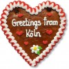 Greetings from Köln - Gingerbread Heart 16cm