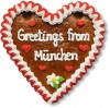 Greetings from München - Gingerbread Heart 16cm