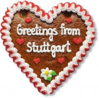 Greetings from Stuttgart - Lebkuchenherz 16cm