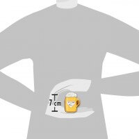 Illustration of the size of gingerbread beer mug