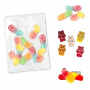 Colorful gummy bears for decoration, 10g