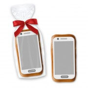 Gingerbread smartphone with sugar paper applicator, 12cm - In noble cellophane bag