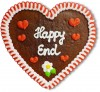 Happy End - Gingerbread Heart 23cm