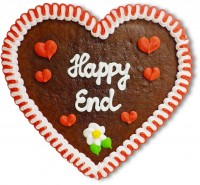 Happy End - Lebkuchenherz 23cm