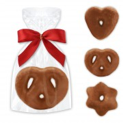 Heart - Pretzel - Star gingerbread - single packed