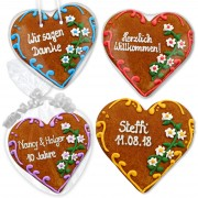Gingerbread heart Jana as an invitation card 16cm