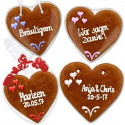 Save The Date Invitation Set Benjamin gingerbread heart 16cm