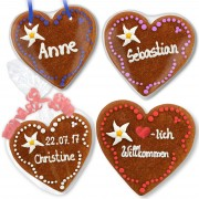 Set Isabella invitation and Thanksgiving gingerbread heart