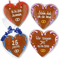 Wedding invitations, set Sophia, gingerbread heart 16cm