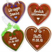 Invitation for wedding, set Vanessa, gingerbread heart 16cm
